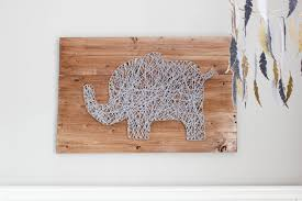 wood plank artwork diy nursery string tutorial erin spain