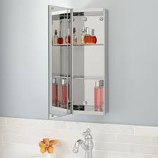 mirror steel medicine cabinet signature hardware