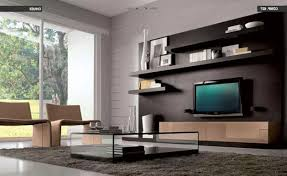 Modern Wooden Shelf Design by Interior Design Modern Interior Floating White Wooden Shelves