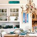 Dining Room Chandelier Covered in Shells < Beach House Dining ...