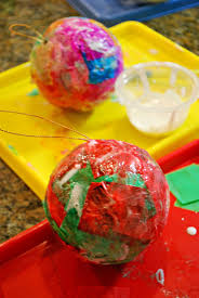ornaments with tissue paper mess for less