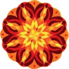Round Red Rugs Round Red Bath Rugs Bathroom Popular Small Room Choosing Tropical