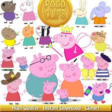 43 peppa pig characters clip art diy instant download printable