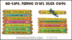no tape folding craft stick cards view it and do it craft 10