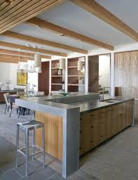 raised kitchen island raised kitchen island family room rustic with fireplace