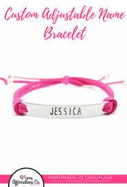 Customized Name Bracelets Adjustable Name Bracelet Customized Name Bracelet Personalized