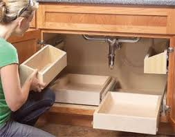 pull out under cabinet storage with kitchen drawers via this old