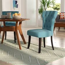 Parsons Upholstered Dining Chairs Blue Dining Chairs Birch Lane
