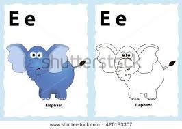 elephant coloring book animal vector cartoon stock vector