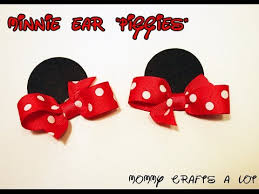 minnie mouse hair bow minnie mouse inspired ears hair bow tutorial how to make minnie