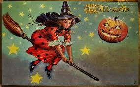vintage halloween witch postcards c 1900 u0027s vintage everyday