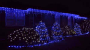 blue led icicle lights for christmas u2013 holidaylights com