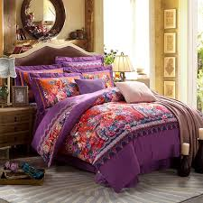 Bohemian Style Comforters Purple Bohemian Bedroom Home Design Ideas