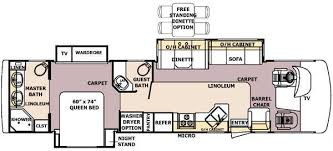 Georgetown Floor Plan 2005 Forest River Georgetown Class A Rvweb Com