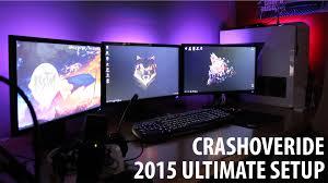 mon ultimate gaming setup tour 2015 room toor crashoveride fr