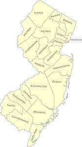 United States Map With State Names And Abbreviations by List Of Counties In New Jersey Wikipedia