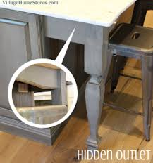 kitchen island outlet ideas a valance beneath the overhang of this kitchen island hides two