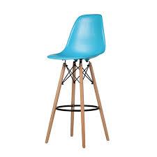 charles eames dsw bar stool in blue the khazana home austin