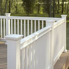 shop fiberon white composite deck railing common 4 in x 6 in x 8