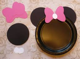 ears and bows only minnie mouse diy craft birthday plate black