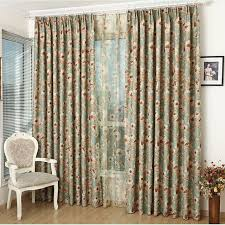 Vintage Floral Curtains Vintage Style Printed Floral Curtains Green Poly Cotton Privacy
