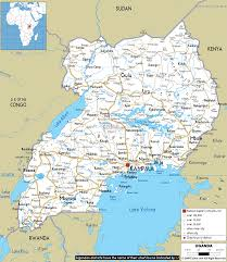map in road detailed clear large road map of uganda ezilon maps