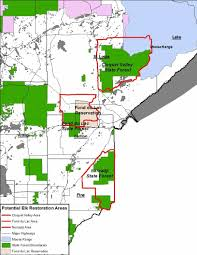 Chippewa National Forest Map Potential Places To Reintroduce Elk Are Identified In Northeastern
