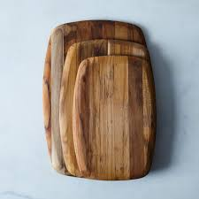 rounded edge teak cutting boards set of 3 on food52