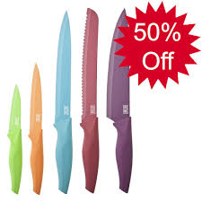 coloured kitchen knives s eye witness non stick knives coloured and