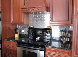 Stainless Steel Brick Backsplash by Eden Mosaic Tile Installations Mixed Brick Pattern Stainless