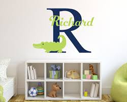 individual personalized name alligator wall stickers for boy s individual personalized name alligator wall stickers for boy s bedroom removable diy nursery wall stickers for kids room jw015 in wall stickers from home