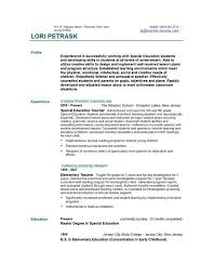 Bilingual Teacher Resume Samples by Special Education Resume Samples Case Study Examples For Special