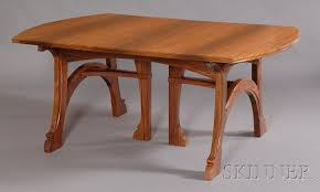 Dining Table And Chair Sale Fine Gustave Serrurier Bovy Art Nouveau Padouk Wood Dining Table