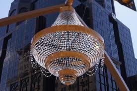 light company in cleveland ohio ge cleveland turns on world s largest led chandelier ledinside