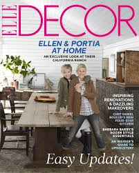 Home Decorating Magazine by Rustic Glamour The Stunning Home Of Ellen Degeneres U0026 Portia De