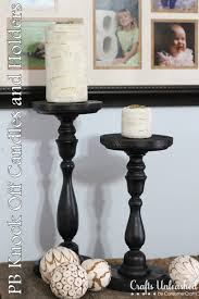 pottery barn knock candles holders
