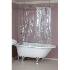 Design Clawfoot Tub Shower Curtain Rod Ideas Awesome Ideas Clawfoot Tub Shower Curtain Rod Shower Ring Curved