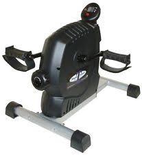 mini magnetic pedal exerciser under desk bike legs hands workout