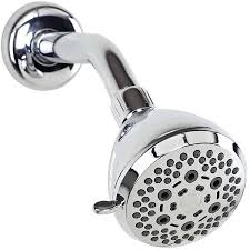 bath bliss 6 function fixed shower head chrome walmart com
