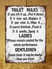 metal toilet home décor plaques u0026 signs ebay
