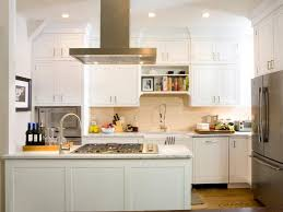 painted white kitchen cabinets pull down faucet mix smooth surface