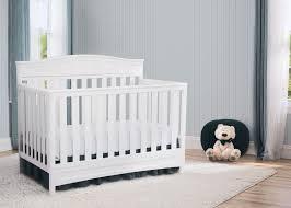 Delta Bentley 4 In 1 Convertible Crib Cribs Delta Bennington Sleigh 4 In 1 Convertible Crib White