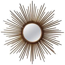 french gilt sunburst or starburst mirror by chaty vallauris at 1stdibs
