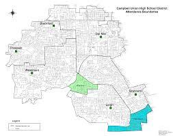 Vanderbilt Campus Map District Boundaries U2013 Schools U2013 Campbell Union High District