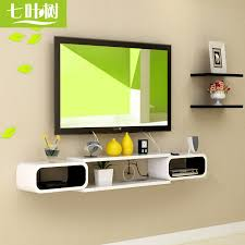 Wall Mount Tv Stand With Shelves by Usd 27 77 Set Top Box Rack Wall Mount Tv Wall Shelf Living Room