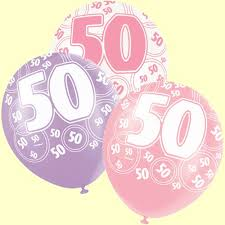 50th birthday balloons 50th birthday balloons pink and silver pack of 6 party wizard