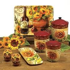 sunflower kitchen ideas kitchen theme decor sets for image of sunflower kitchen decor sets