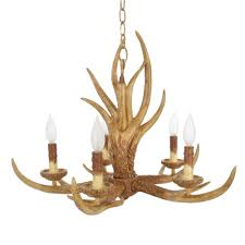 Chandelier Lighting Fixtures by Hampton Bay 5 Light Natural Antler Hanging Chandelier 17195 The