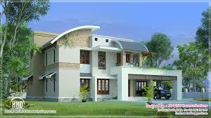 sloping roof villa exterior elevation house design plans exterior