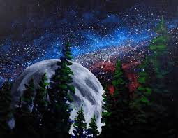 how to paint the stars and moon in acrylic u2014 online art lessons